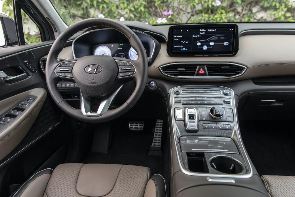 Nội thất Hyundai Santa Fe 2021